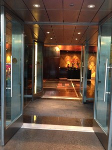 The Mandarin Oriental front Door