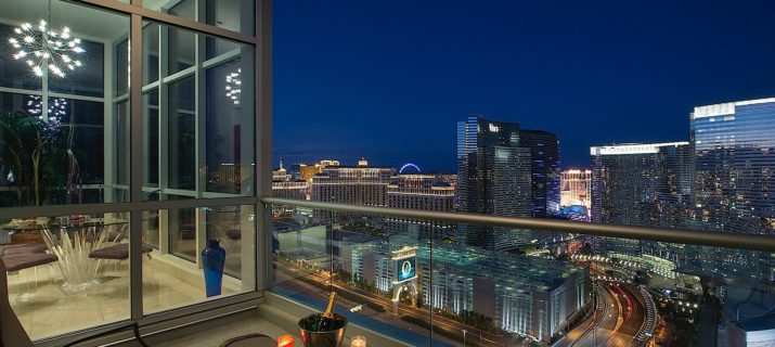 Panorama Towers Las Vegas condos View from balcony
