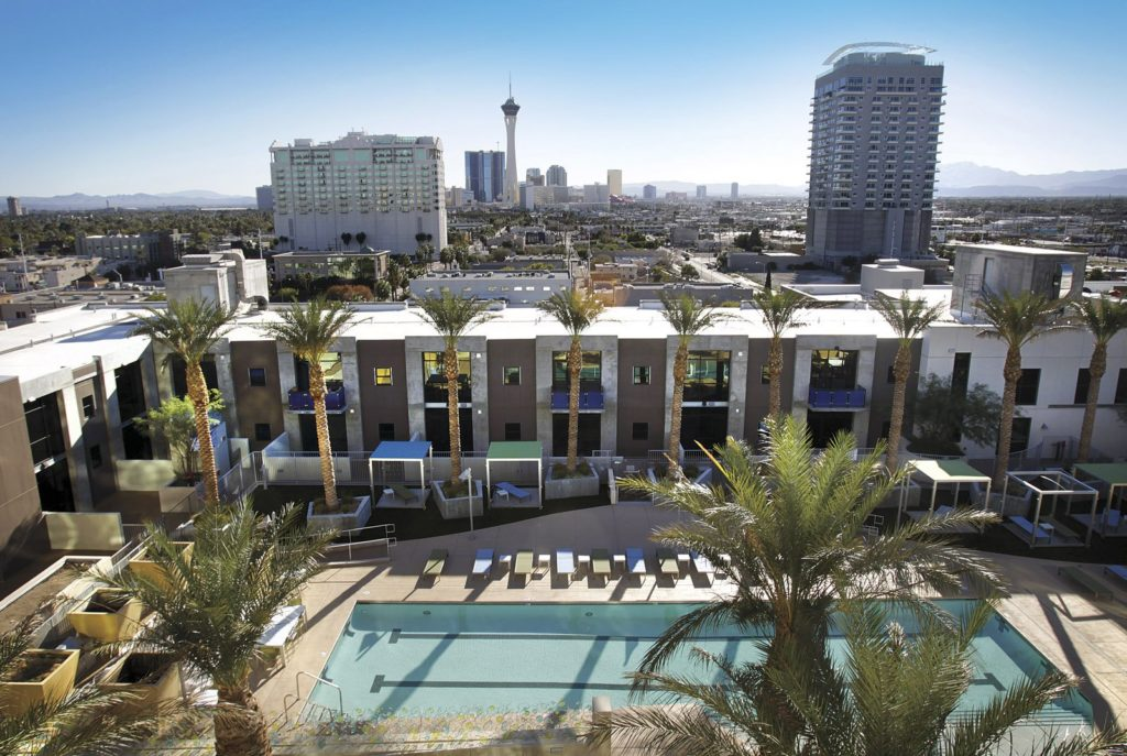 JUHL Las Vegas Condos Pool Area Amenities
