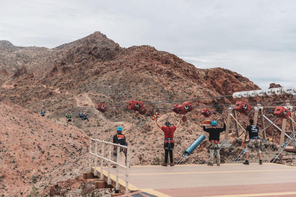 Ziplining in Bootleg Canyon Las Vegas