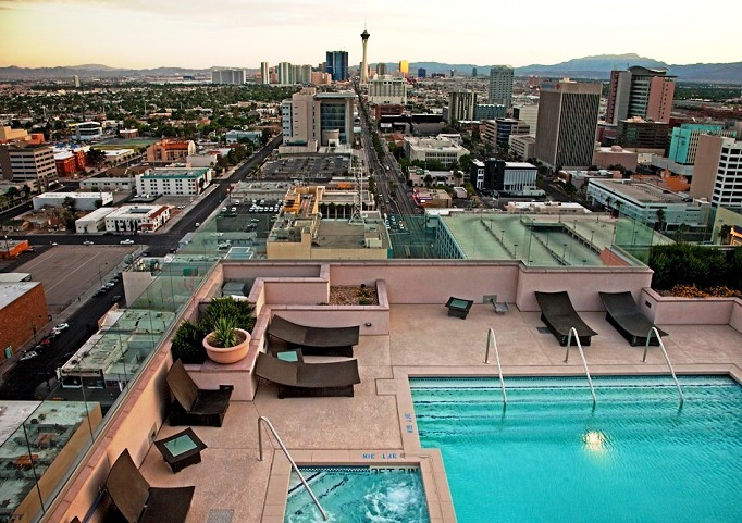 The Ogden Las Vegas Condos for Sale Down Town pool Las Vegas